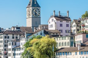 View of historic Zurich city center