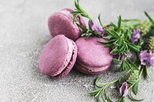 french macarons with lavender flavor by  in Food & Drink