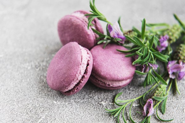 Food Stock Photos: Almaje - french macarons with lavender flavor