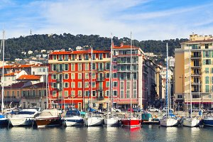 View on Port of Nice, France