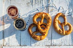 Beer and pretzels, Oktoberfest party