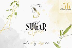Sugar Spice - font duo + Extras