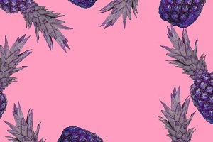 purple pineapples