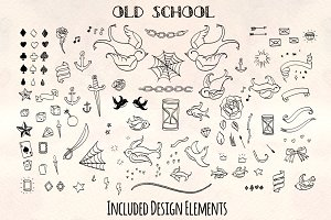100+ Old School Tattoo Sketch Vector
