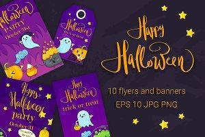 Happy Halloween. 10 flyers