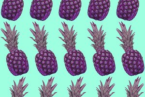 A pattern of pink pineapples