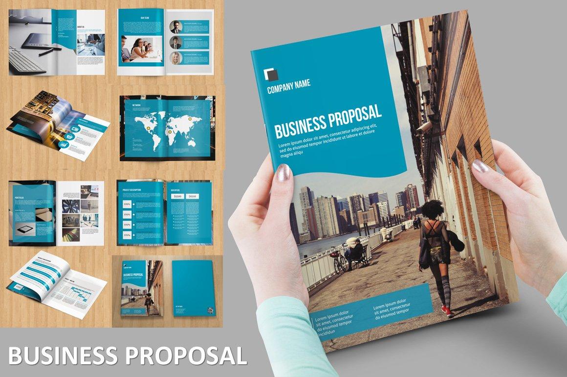 Modern business proposal v brochure templates