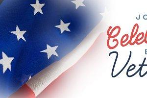 Logo for veterans day in america
