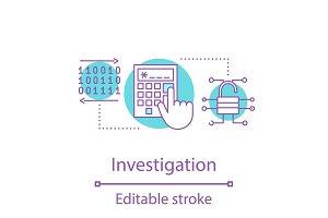 Investigation concept icon