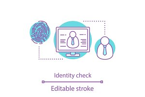 Identity check concept icon