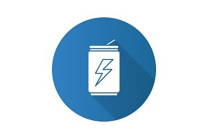 Energy drink can icon