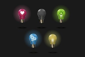 Dark Light bulb set