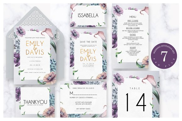 Modern Wedding Invitation Ac.57