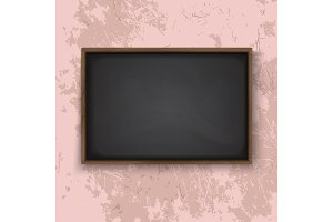 Blackboard on the wall