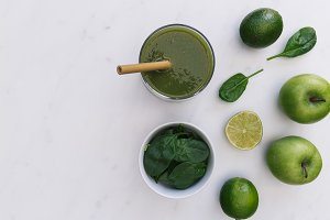 Green smoothie drink