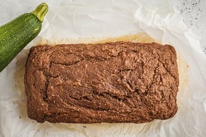 Chocolate vegan zucchini bread