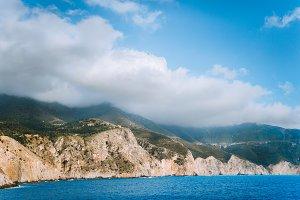 Picturesque rocky coastline on