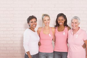 Women supporting breast cancer