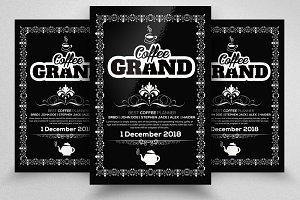 Chalk Board Coffee Poster Template