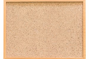 Cork board isolated on white backgro