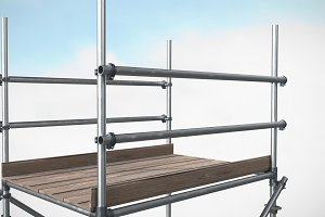 Image of 3d image of scaffolding