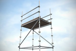 Image of scaffolding 3d