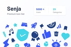 Senja Ultimate Icon Set: 5000+ icons