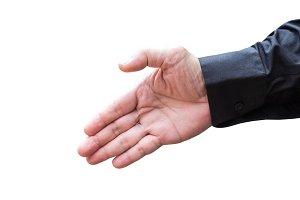 Businessman showing hand gesture