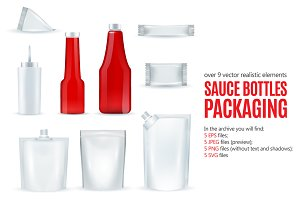 Sale! Sauce Bottles Packaging Set