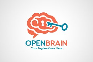 Open Brain Logo Template