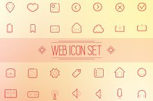 Set of icons for web and application