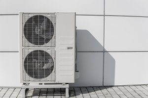 Exterior air conditioning unit on a