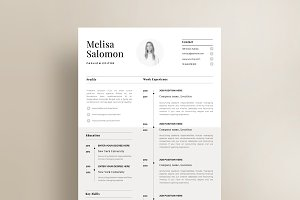 "Resume Template 1 page | ""Paris"""
