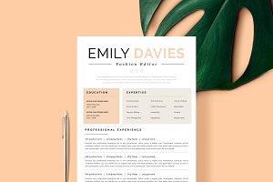 """Resume Template 1 page   """"Davies"""""""