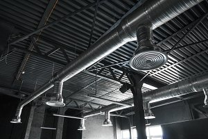 Ventilation system on the ceiling of