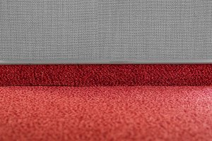 Carpet floor with a carpet baseboard