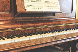 Ancient piano