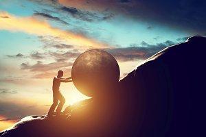 Sisyphus metaphor. Sisyphean work