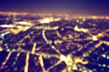 City at night. Blurred background