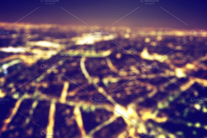 City at night. Blurred background - Architecture