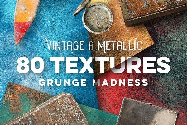 Textures: Zeppelin Graphics - 80 Vintage & Metallic Textures