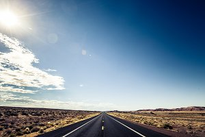 Open Road in the Desert
