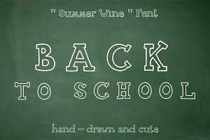 Summer Wine - hand drawn font