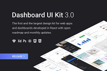 Dashboard UI Kit 3.0 (Design Pack) by  in Web Elements