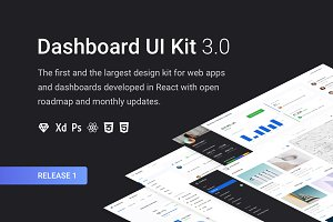 Dashboard UI Kit 3.0 (Design Pack)