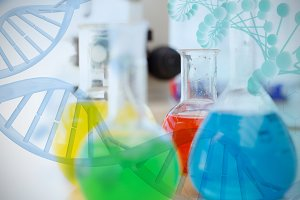 Image of multiple color chemical