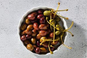 banner of tasty fresh Italian olives