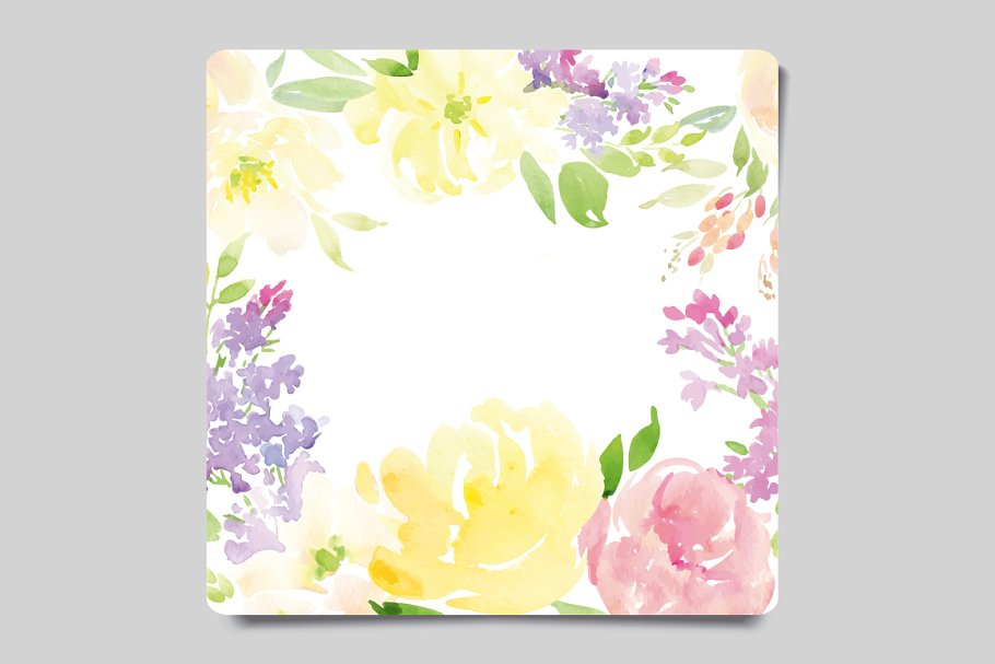 greeting card and flower pattern  creative card templates