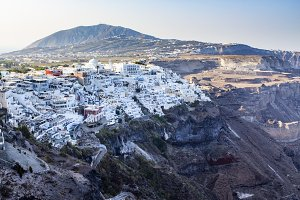 Scenic view of Thira