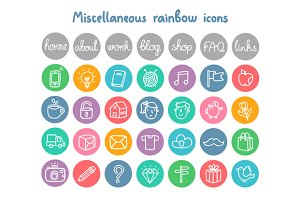 Miscellaneous Doodle Icons
